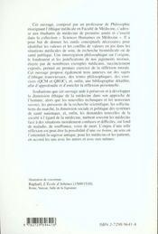 Fondements Philosophiques De L'Ethique Medicale - 4ème de couverture - Format classique