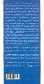 Objet Banal Objet Social ; Les Objets Quotidiens Comme Revelateurs Des Relations Sociales - 4ème de couverture - Format classique