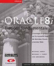 Oracle 8i Notions Fondamentales - Intérieur - Format classique
