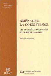 Amenager la coexistence - Couverture - Format classique