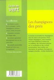 Champignons des pres - 4ème de couverture - Format classique