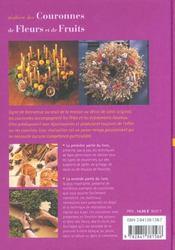 Realiser Des Couronnes De Fleurs Et De Fruits - 4ème de couverture - Format classique