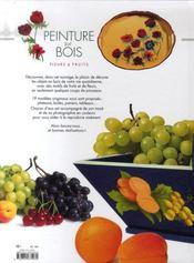 Peinture sur bois ; fleurs et fruits - 4ème de couverture - Format classique