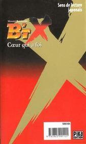 B'Tx t.t.14; coeur qui a foi - 4ème de couverture - Format classique