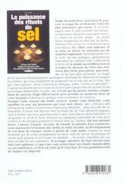 La Puissance Des Rituels Du Sel - 4ème de couverture - Format classique