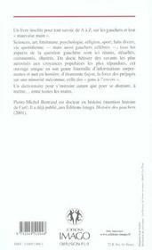 Dictionnaire des gauchers - 4ème de couverture - Format classique