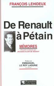 De Renault A Petain - Intérieur - Format classique