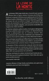 Le Livre De La Honte Les Reseaux Pedophiles - 4ème de couverture - Format classique