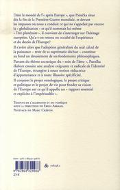 L'europe après l'europe - 4ème de couverture - Format classique