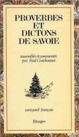 Proverbes Et Dictons De Savoie - Couverture - Format classique