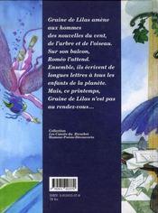 Graine de lilas - 4ème de couverture - Format classique
