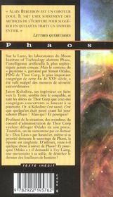 Phaos - 4ème de couverture - Format classique