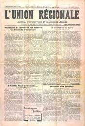 Union Regionale (L') N°1171 du 08/02/1941 - Couverture - Format classique