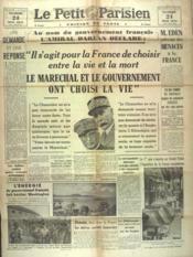 Petit Parisien Edition De Paris (Le) du 24/05/1941 - Couverture - Format classique