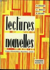 Lectures Nouvelles. Cours Elementaire Deuxieme Annee. - Couverture - Format classique
