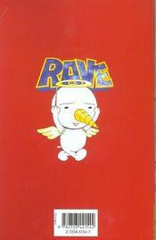 Rave t.3 - 4ème de couverture - Format classique