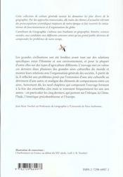 Aires Culturelles Et Civilisations Traditionnelles - 4ème de couverture - Format classique