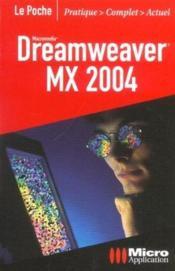 Dreamweaver Mx 2004 Poche - Couverture - Format classique