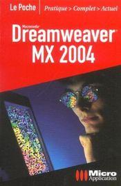 Dreamweaver Mx 2004 Poche - Intérieur - Format classique