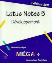 Vente  Lotus notes 5 développement  - Collectif