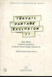 Travail, Partage, Exclusion 2 - Couverture - Format classique