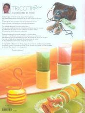 Tricotin ; déco et accessoires de mode - 4ème de couverture - Format classique
