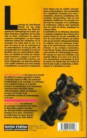 Les Chairs De La Mort. Corps, Mort, Afrique - 4ème de couverture - Format classique