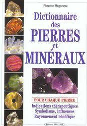 Dictionnaire Des Pierres Et Mineraux - Intérieur - Format classique