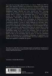 Éclats du noir ; généricité et hybridation dans la littérature et le cinéma du monde anglophone - 4ème de couverture - Format classique