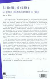 Prevention Du Sida - 4ème de couverture - Format classique