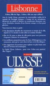 Lisbonne 2001 - 4ème de couverture - Format classique