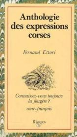 Anthologie des expressions corses - Couverture - Format classique