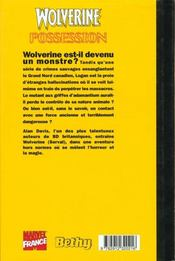 Wolverine t.5 possession - 4ème de couverture - Format classique