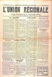 Union Regionale (L') N°1172 du 15/02/1941 - Couverture - Format classique