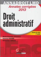 Droit administratif (14e édition) - Couverture - Format classique
