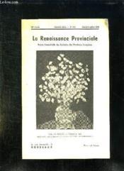 La Renaissance Provinciale N° 114 Mai Juin Juillet 1956. Vase De Fleurs Par Vasquez Del Rio. - Couverture - Format classique