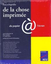 Encyclopédie de la chose imprime - Intérieur - Format classique