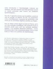 L'épistémologie ; état des lieux et positions - 4ème de couverture - Format classique