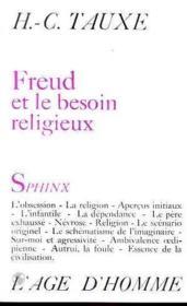 Freud Et Le Besoin Religieux - Couverture - Format classique