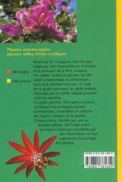Guide Des Plantes Tropicales - 4ème de couverture - Format classique