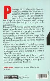 Dialogues Sur Le Cancer - 4ème de couverture - Format classique