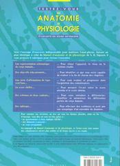 Testez Vous En Anat Physio - 4ème de couverture - Format classique