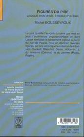 Les Figures Du Pire. - 4ème de couverture - Format classique