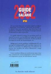 Guide Du Salarie 2002 ; Connaissez Vos Droits - 4ème de couverture - Format classique