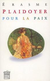 Plaidoyer Pour La Paix - Couverture - Format classique