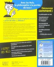 La Philosophie Pour Les Nuls - 4ème de couverture - Format classique