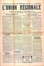 Union Regionale (L') N°1173 du 22/02/1941 - Couverture - Format classique