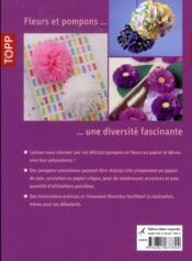 Fleurs et pompons décoratifs en papier ; décors en papier pour débutants - 4ème de couverture - Format classique