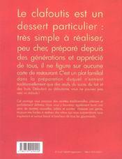 Les clafoutis sans souci - 4ème de couverture - Format classique