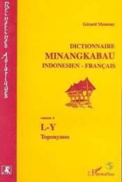 Dictionnaire minangkabau indonésien/français t.2 ; L-Y, toponymes - Couverture - Format classique